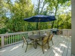 Large Back Deck with Dining Table and BBQ Grill at 10 Cartgate