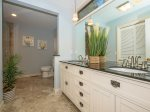 Updated Master Bath with Double Vanity and Walk in Shower at 2 Gadwall