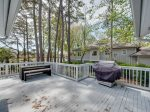 Back Deck with BBQ Grill and Dining Table at 15 Swing About