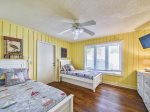 Master Bedroom with King Bed and Twin Bed Located on 2nd Floor at 1 Hickory Lane