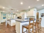 Large Kitchen with Breakfast Bar at 1 Hickory Lane