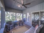 Screened Porch Located off Living Room and Dining Area at 2 Pine Court