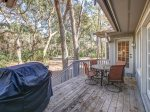Back Deck with Dining Table and BBQ Grill at 2 Pine Court