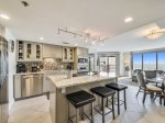 Spacious Kitchen with Breakfast Island at 3524 Villamare