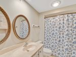 Guest Bath with Tub/Shower Combo at 413 Captains Walk