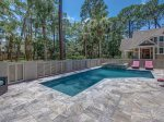 Completely Fenced Pool Deck Area at 10 Laughing Gull