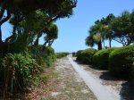 Paved Beach Path from 8 Wood Ibis
