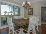 Dining Area with Seating for Six and Ocean Views at 2117 Windsor II