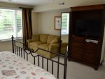 Master Bedroom with Full Size Sleeper Sofa at 2 Ruddy Turnstone