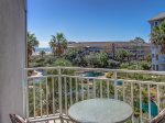 Private Balcony off Guest Bedroom with Ocean Views at 2306 SeaCrest