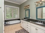 Master Bath with Double Vanity and Large Soaking Tub at 90 Shell Ring Road