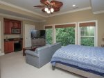 Upstairs Guest Bedroom with Separate Sitting Area offers Queen Sleeper Sofa at 90 Shell Ring Road