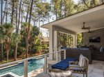 Large Back Deck Overlooking Pool at 2 Armada