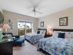 Third Guest Room with Two Double Beds and Ocean Views at 5209 Hampton Place