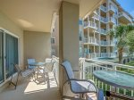 Private Balcony with Plenty of Seating for the Whole Family at 6103 Hampton Place