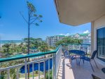 Balcony Overlooking Beach and Pool at 4404 Windsor Court North