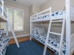 Guest Room with Two Sets of Bunk Beds at 25 Wildwood Road