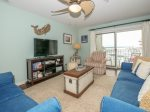 Living Room with Views of Harbor Town at 856 Ketch Court