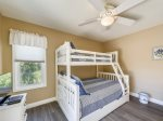 The Lighthouse Room is Located Upstairs and Features Twin/Full Bunk with Twin Trundle at 3 Laurel Lane