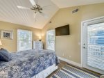 Upstairs Guest Room with Queen Bed at 4 Driftwood