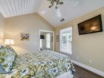 Upstairs Guest Bedroom with Queen Bed at 4 Driftwood