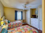 Guest Bedroom with Two Twin Beds at 48 Hilton Head Cabana