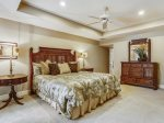 Upstairs Master Bedroom with King Bed at 1 Duck Hawk