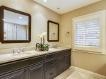 Master Bathroom with Double Vanity at 1 Duck Hawk