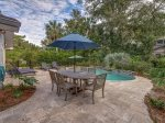 Spacious Pool Deck with BBQ Grill at 46 Lagoon Road in Forest Beach