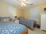 Guest Bedroom with Two Twin Beds at 46 Lagoon Road in Forest Beach