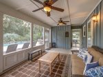 Screened Porch at 46 Lagoon Road in Forest Beach