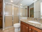 Guest Bathroom with Shower Only at 2 Red Cardinal