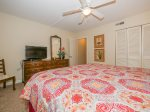 Master Bedroom with Access to Shared Hall Bath at 33 Hilton Head Cabana