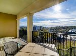 Private Balcony Overlooking Coligny Plaza and Slight Ocean Views from 503 North Shore Place