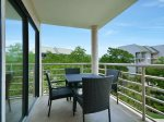 Main Balcony can be Accessed from Living Room and Master Bedroom at 3421 Villamare