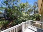 Private Deck off Twin Room Overlooks Pool at 16 Sea Oak Lane