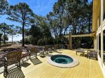 Hot Tub on Back Deck with Ocean Views of 16 Sea Oak Lane