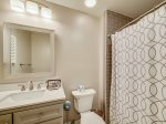 Renovated Guest Bathroom with Shower/Tub Combo at 34 Turtle Lane Club