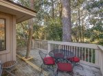 Back Deck with Golf Course Views at 205 Beachwalk