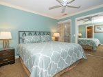 Guest Bedroom with King Bed Located on 3rd Floor at 20 Hilton Head Beach Villa
