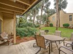 Back Patio with Dining Table at 20 Hilton Head Beach Villa