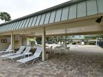 Covered Picnic Area and Restrooms at Hilton Head Cabanas Pool
