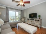 Living Room with Private Balcony at 2D Beachwood Place