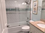 Guest Bath with Shower/Tub Combo at 11 Beachside Drive