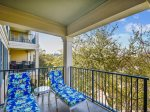 Private Balcony Overlooking Coligny Plaza at 304 North Shore Place