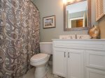 Hall Bath with Shower/Tub Combo at 4 Hilton Head Cabanas