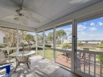 Screened Porch Overlooking Cailbogue Sound at 19 Lands End