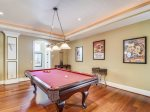 Large Media Room on Main Level with Pool Table at 7 Armada