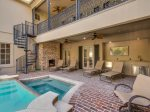 Off The Sitting Room is the Outdoor Patio with Pool, Hot Tub, Flat Screen TV and Fireplace at 7 Armada