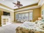 Main Level Master Suite with King Bed at 3 Iron Clad